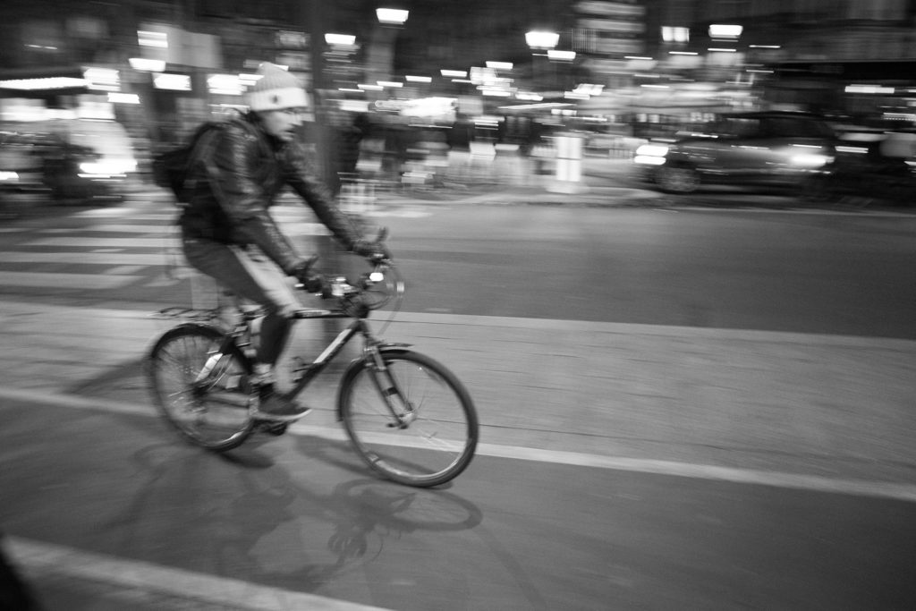 אופניים בנסיעה